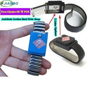 Image 2 - Cordless Bracelet Metal Antistatic Wireless Anti Static ESD Wristband Discharge Electronic Work Anti static Wrist Band Strap