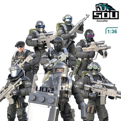 1:36 Масштаб SWAT военная фигурка солдата набор игрушек S.D.U армейские фигурки командная модель боевой пистолет игра игрушки для мальчика подар...
