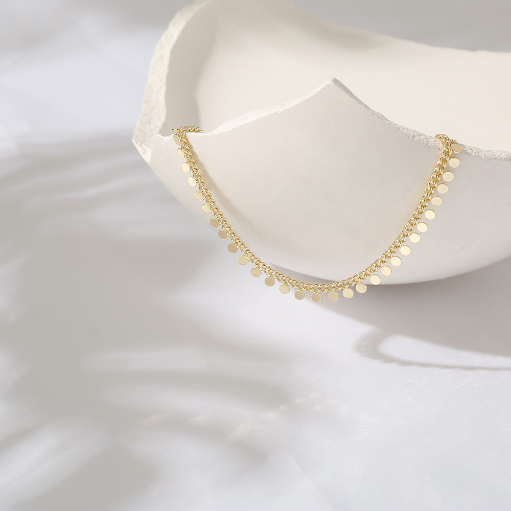 Yhpup New Metal Collar Necklace for Women Simple Geometric Chain Necklace Copper Jewelry Female Choker Gift Accessories 2020