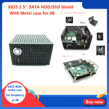 Raspberry Pi 4 Model B 2.5 inch SATA HDD/SSD Storage Expansion Board, X825 USB3.1 Mobile Hard Disk Module for Raspberry Pi 4B