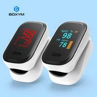 BOXYM médico portátil oxímetro de pulso para dedo ritmo cardíaco y oxígeno en la sangre de saturación de OLED Oximetro de dedo Saturometro Monitor