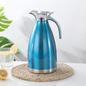 Image 5 - 1.5L 2L 二重壁のステンレス鋼魔法瓶ポットコーヒー茶熱絶縁水ボトル水差し