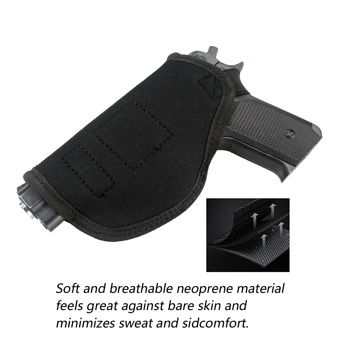 Image 3 - Tactical Concealed Carry Universal Neoprene IWB Holster with Extra Mag Holster for Right Hand-in Holsters from Sports & Entertainment