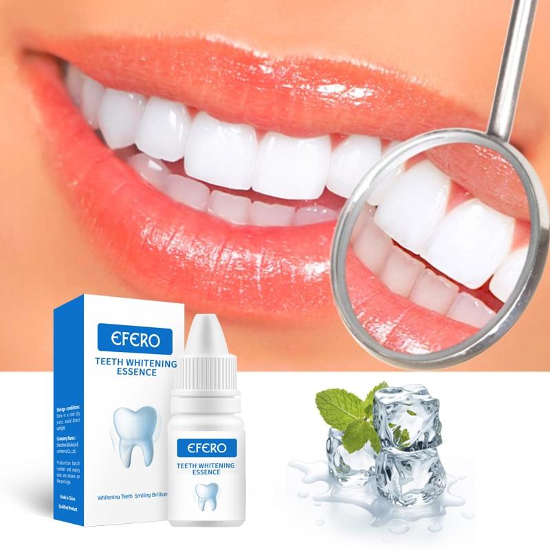 EFERO Teeth Whitening Essence Oral Hygiene Remove Plaque Stains Tooth Whitener Gel Bleaching Dental Care Whitening Teeth Serum