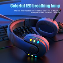 New 2021 Headset Colorful LED Marquee Wired Gaming Gaming Glowing Headphone Unisex Earphones Music Game Headphones Unisex cheap BEHATRD NONE Other CN(Origin) Wireless+Wired Bluetooth For Internet Bar Monitor Headphone for Video Game Common Headphone