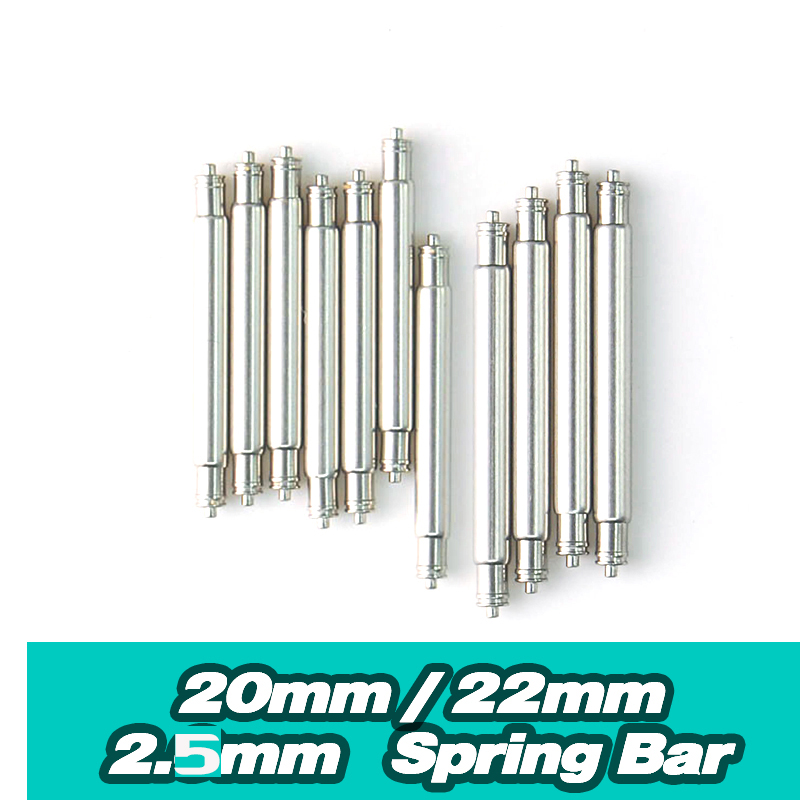 20mm 22mm  Spring Bar Diameter=2.5mm  6309 7002 SKX007 Monster SKX779 Diver Z20Z22