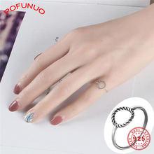 Pofunuo изящное ювелирное изделие элегантные кольца с резьбой