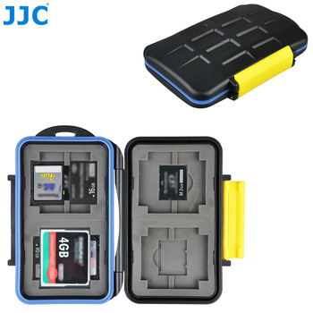 JJC Storage  4 x CF, 4 x SD, 4 x XD, 4 x MemoryStick Pro Duo Cards Compact Tough Water-Resistant Camera Memory Card Case