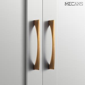 Nordic door handle cupboard wardrobe door handle cabinet drawer handle modern and simple brass brushed black Cabinet pull