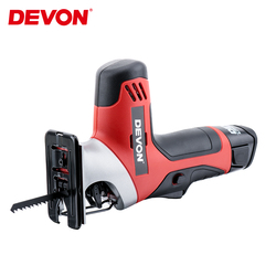 DEVON Electric Lithium Reciprocating Saw Cordless Saber Saw Electric Jig Saw Power tool with Adjustable Speed for Wood Metal Cut