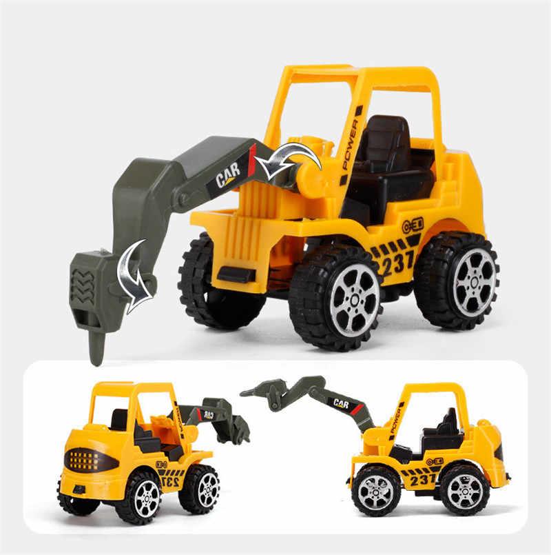 6 estilos mini carro de engenharia trator brinquedo caminhão basculante modelo clássico brinquedo liga carro crianças brinquedos veículo de engenharia para crianças presente