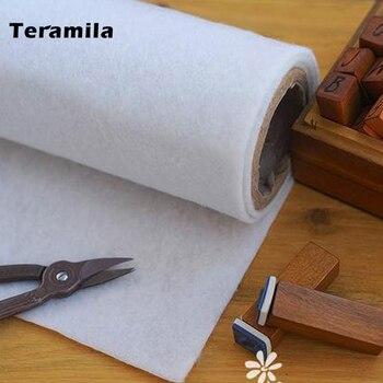 Teramila 50cm x 100 cm/szt. 180g pojedynczy z klejem z jednej strony bawełniany krem do mrugnięcia Interlining Filler idealny do torebek Craft DIY projekty