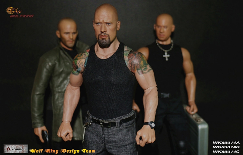 The Fate Of The Furious 1/6 Scale Jason Statham/Vin Diesel /Dwayne Johnson Head And Racing Clothing Set For Man Male Body