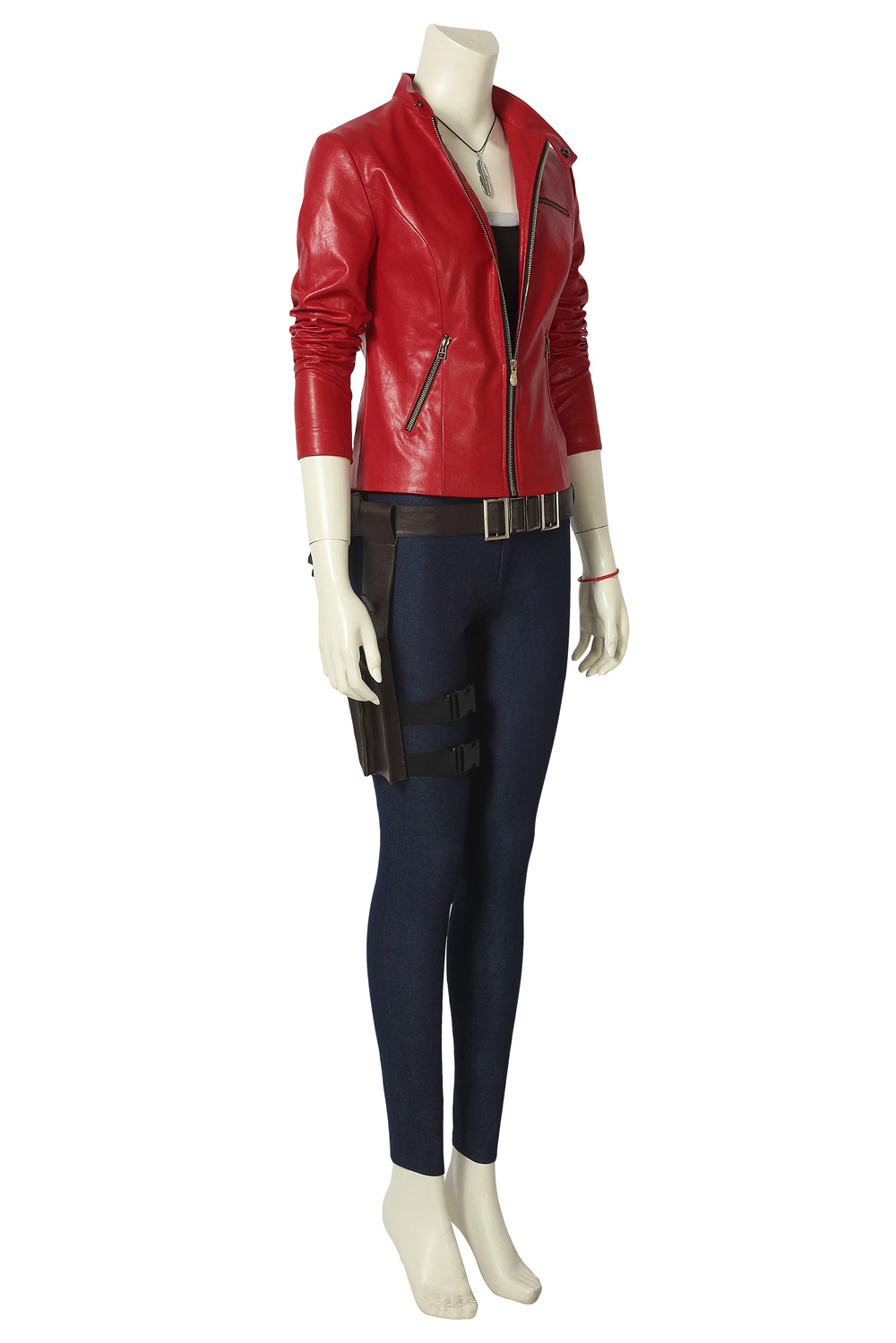 RE 2 Claire Redfield Cosplay Costume Red Jacket Women Outfit