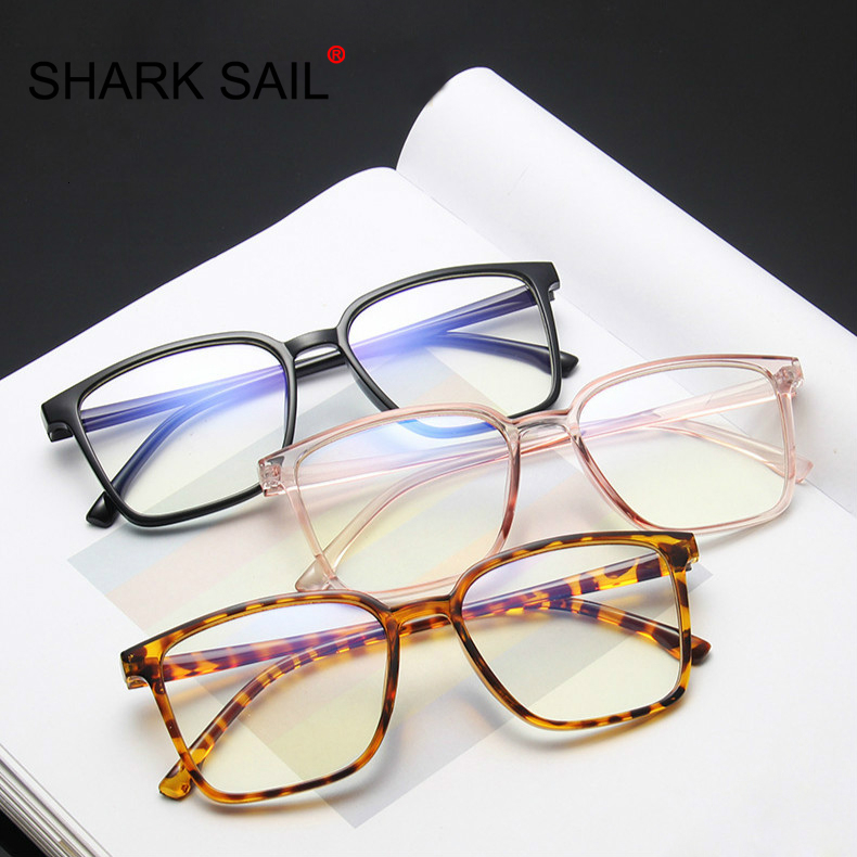 SHARK SAIL Fashion Women Men Transparent Computer Glasses Spectacles Frame Anti Blue Ray Clear Lens Eyeglasses Gaming Glasses