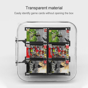 Image 2 - Oyun kartları taşınabilir koruyucu ABS sert kabuk oyun kartları saklama kutusu ile 12 oyun kartuşları tutucu Nintendo anahtarı için