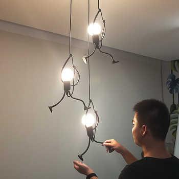 Creative little man climbing pendant lamp for children room pendant light metal cord pendant lamps Art decoration Pendant Lights - Category 🛒 Lights & Lighting