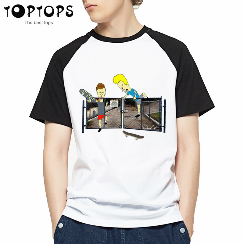 Men and Women Beavis and Butthead Design Funny T Shirt,Unisex Comfortable Breathable T-Shirt Men's Streewear