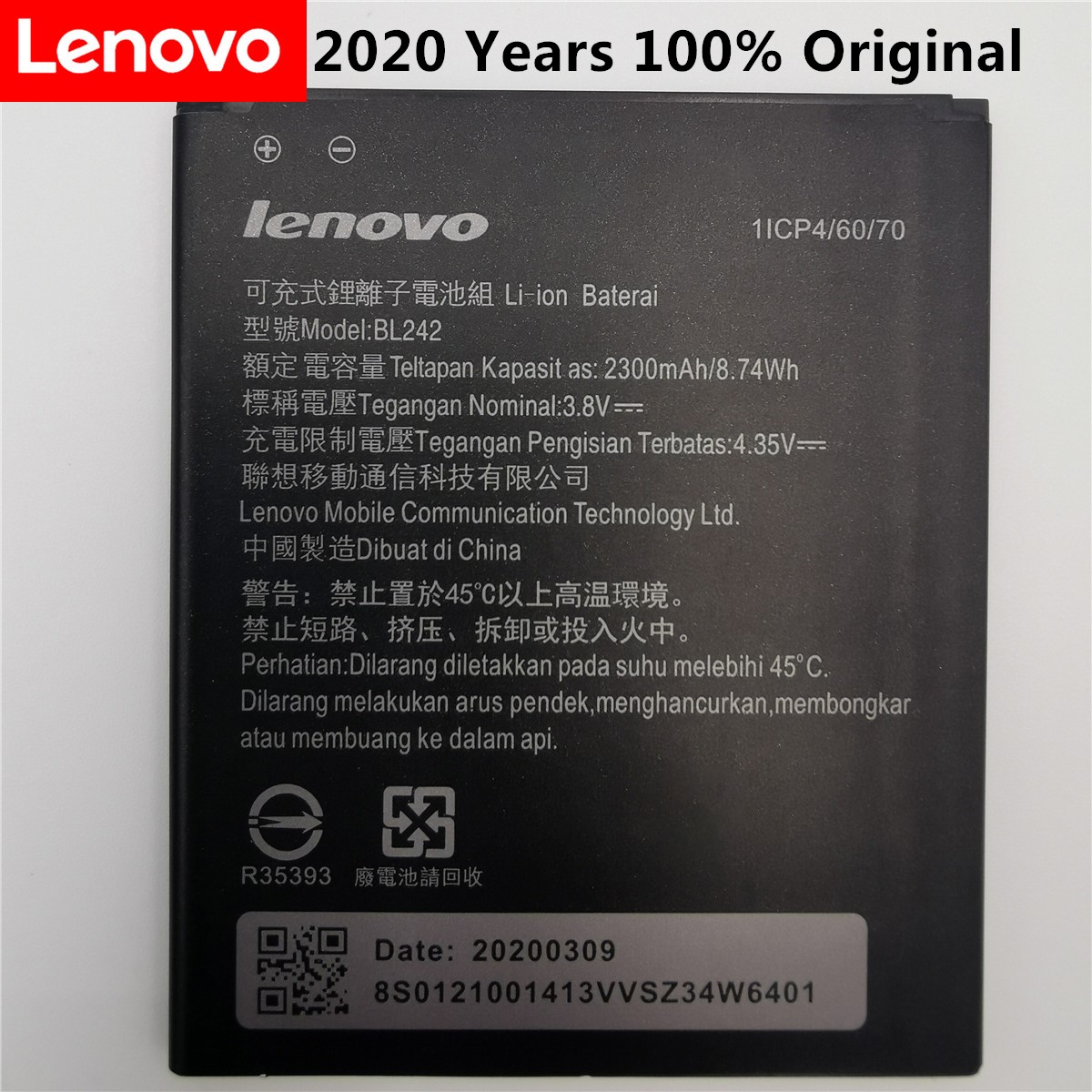 2020 New High Quality Battery BL242 For Lenovo K3 K30-W K30-T A6000 A3860 A3580 A3900 A6010 A6010 Plus Mobile Phone Batteries
