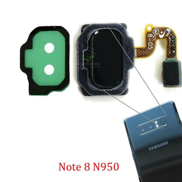 ホームボタン指紋センサーサムスン注 8 N950 N950Fオリジナル電話新バックリターンメニューキータッチidボタンフレックスケーブル