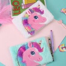 A5 agenda kawaii hard cover notebooks for school sationary emboridery unicorn planner girls gift