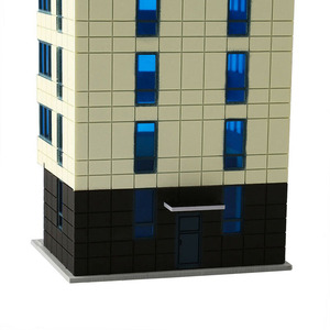 Image 3 - N Scale Outland Models Colored Modern City White Building Grand Apartment