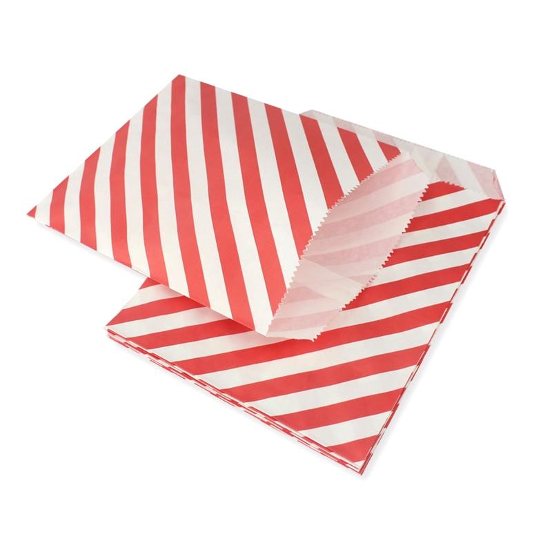 1500 sztuk deser stołowe czerwone w leczeniu torby papierowe w Chevron w paski i kropki, boże narodzenie upominek przyjęcie cukierki torby w Torby na prezenty i przybory do pakowania od Dom i ogród na  Grupa 3