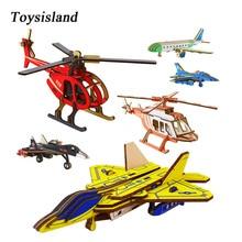 DIY Wooden Plane Model Constructor Toys for Children's Designer Wooden 3D Puzzle цена в Москве и Питере