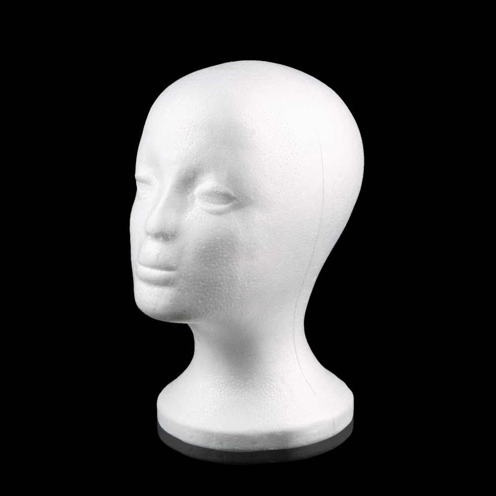 الأبيض الإناث الستايروفوم المعرضة القزم رئيس نموذج رغوة الإسفنج شعر مستعار نظارات عرض غطاء نظارات عرض موقف انخفاض الشحن