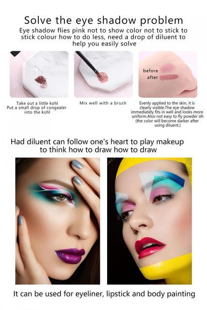 MISS ROSE Primer Makeup Dilution Blending Liquid Eyeliner Powder Blush Nail Polish eye Shadow Liquid Restore face primer  TSLM1 3