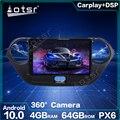 Автомобильный мультимедийный плеер, Android 10,0, 64 ГБ, DSP, GPS-навигация для Hyundai I10 2013-2016, стерео, IPS