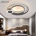 Новые современные светодиодные потолочные светильники для гостиной  спальни  белый с черным наземный светильник  лампы  светильники  Luminaria ...