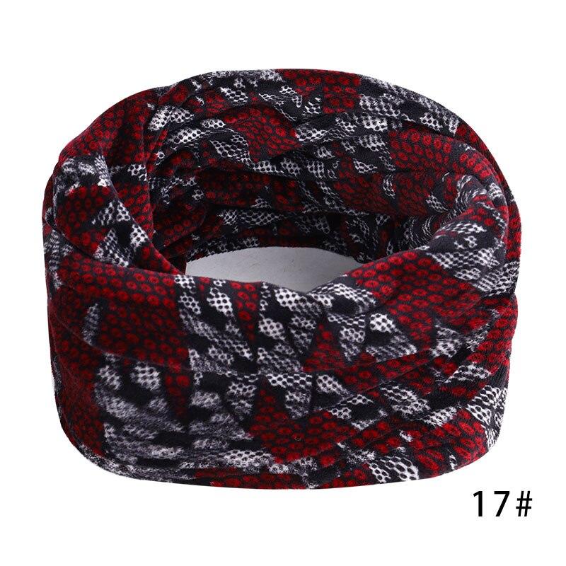 Новинка, осенне-зимний женский шарф с принтом для женщин, модный бархатный тканевый шарф, мягкий удобный женский винтажный шарф - Цвет: 17