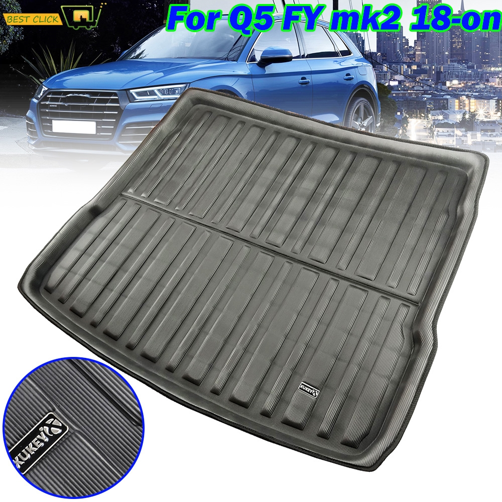 Car Boot Cargo Liner Tray For Audi Q5 SQ5 FY MK2 2018 2019 Trunk Floor Mat Liner Carpet Tray Waterproof Accessories