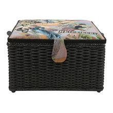 Европейский стиль, бытовая корзина для шитья, ручная игла, коробка для хранения ниток, органайзер, хранение швейных инструментов