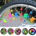 25/36 шт цветная безопасная детская клипса для велосипеда, Круглые разноцветные сердечки, звездочки, Аксессуары для велосипеда, украшение из ...