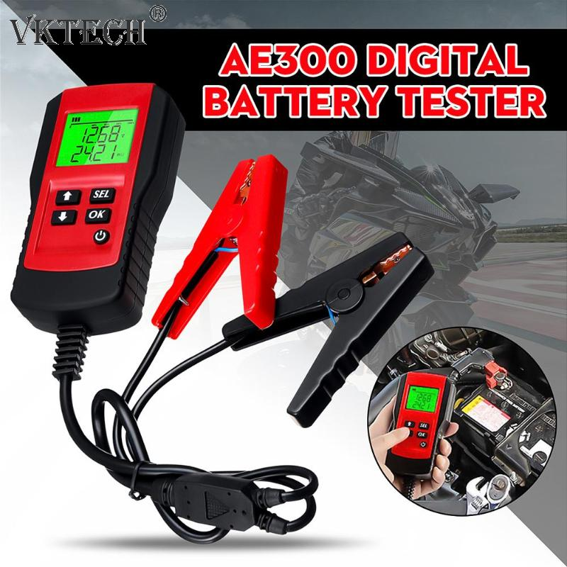 Car Battery Tester Digital LCD Motorcycle Battery Load Tester Analyzer Automobile Vehicle Battery Diagnostic Tool Rapair Tool