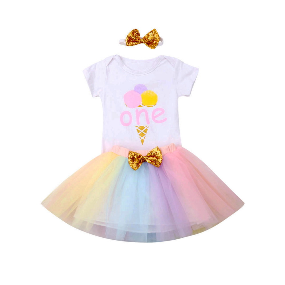HEADBAND 4 PC Outfit Personalized Free BABY GIRL TUTU 2 BODYSUITS