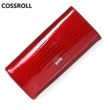 long women wallets genuine leather purse cow leather wallet women luxury brand ladies purses