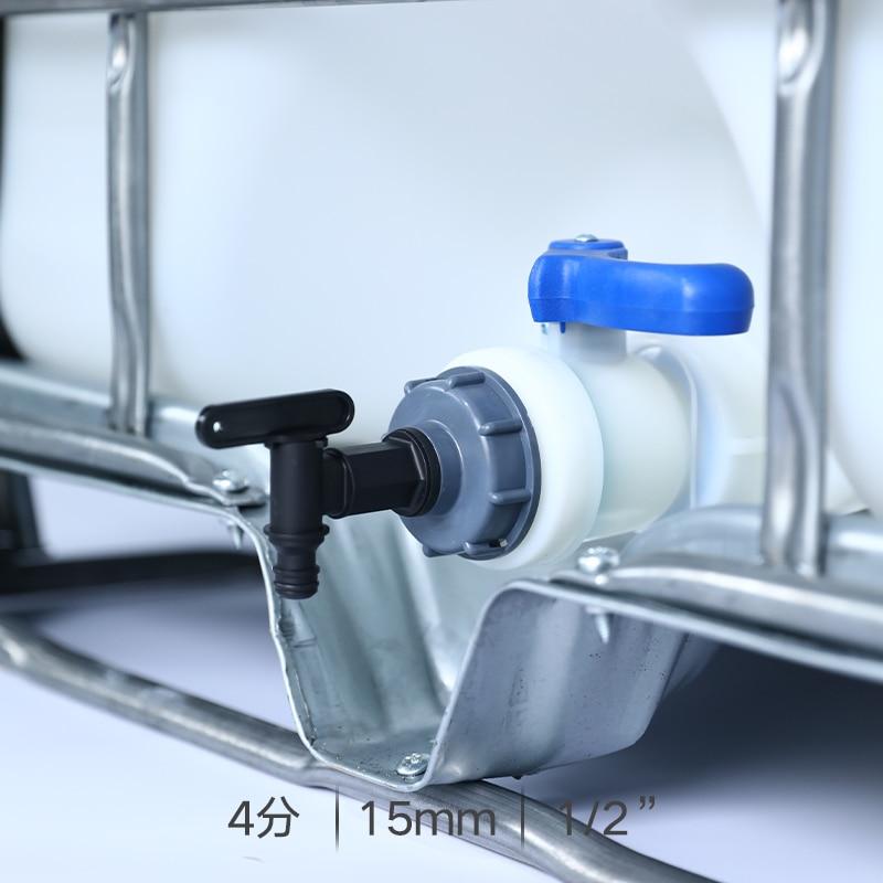 1% 2F2 дюйм S60x6 резьба пластик IBC бак кран 15 мм переходник сад шланг соединение с переключатель клапан вода бак фитинги
