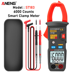 ANENG ST183 Digital Clamp Meter AC Current 6000 Counts True RMS Multimeter DC/AC Voltage Tester Hz Capacitance NCV Ohm Tests