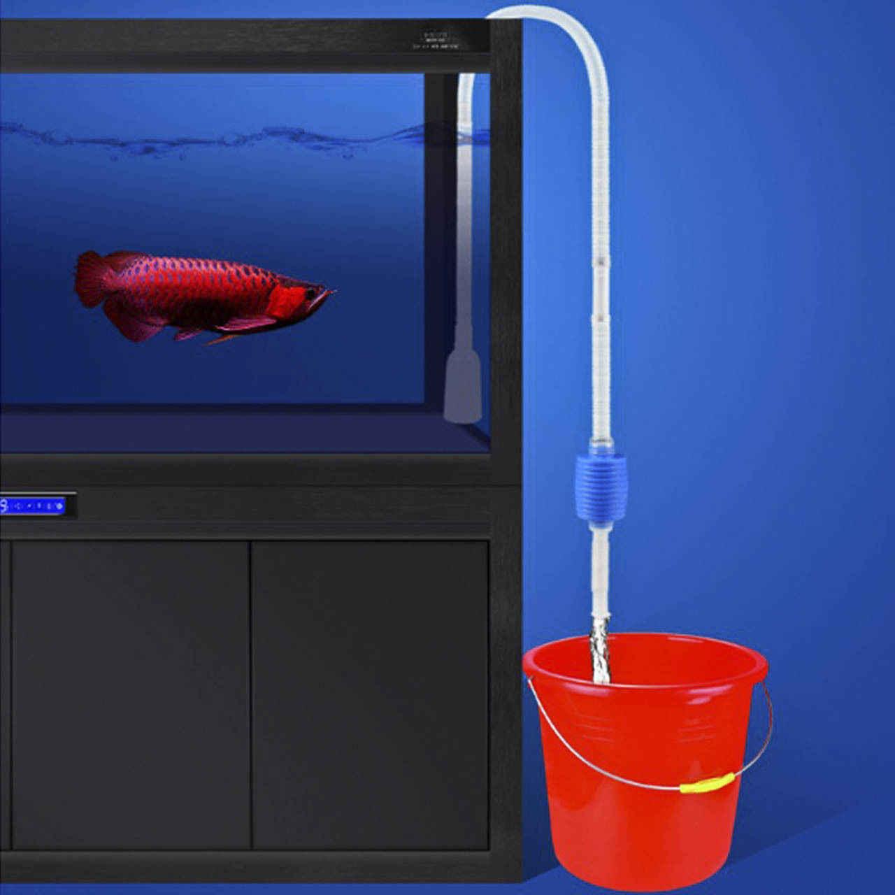 Aquarium Water Filter Tool Aquarium Grind Vacuüm Reiniging Cleaner Siphon Pomp Veranderen Water Schoonmaken Tool