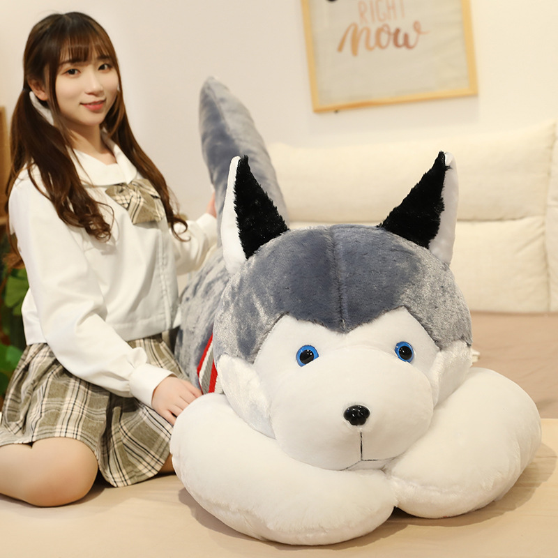 Huskie Dog Plush Toy Stuffed Doggy Animals Pillow Bed Sleeping Cushion For Birthday Gift Of Boys Kids Girls Just6F