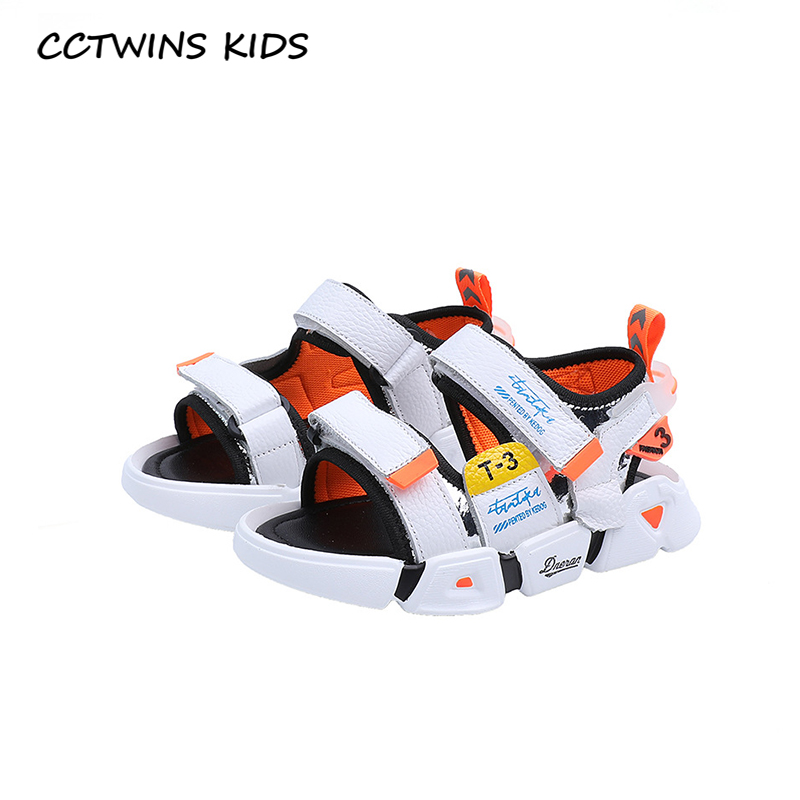 CCTWINS Kids Shoes 2020 Summer Children Fashion Beach Sandals Baby Brand Soft Shoes Toddler Genuine Leather Shoes Boys BS419