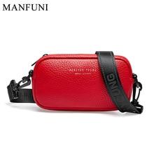 Fashion Women Crossbody Bag 100% Genuine Leather Black Handbag Small Flap Bags Simple Lady Shoulder Purse Messenger Wide Strap