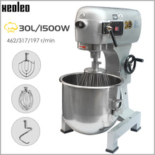XEOLEO Commercial Food Mixer 30L Planet Dough mixer Egg Beater Baking machine 1500W Dough Kneading machine Cream Mix machine 1pc commercial bread spiral dough mixer with dough temperature display double acting 8kg capacity dough mixer doughmaker 220v