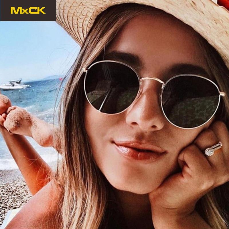 MxCK Brand Luxury Mirror Sunglasses Women/Men Brand Designer Lady Classic Round Sun Glasses Outdoor UV400 Eyewear