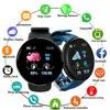 2021 New D18 Bluetooth Smart Watch Blood Pressure Smartwatch Waterproof Heart Rate Fitness Tracker Smart Clock 1.3 Screen Watch