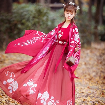 Ancient Chinese Traditional Costumes Woman Fairy Han Dynasty Retro Clothes Summer National Stage Dresses Outfit for Lady DWY2790