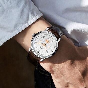Luxury Brand Switzerland LOBINNI Men Watches Perpetual Calender Auto Mechanical Men's Clock Sapphire Leather relogio L15008-9 4